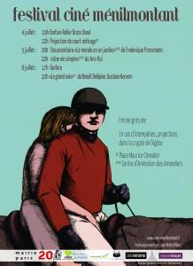 Affiche Ciné Ménilmontant 2013