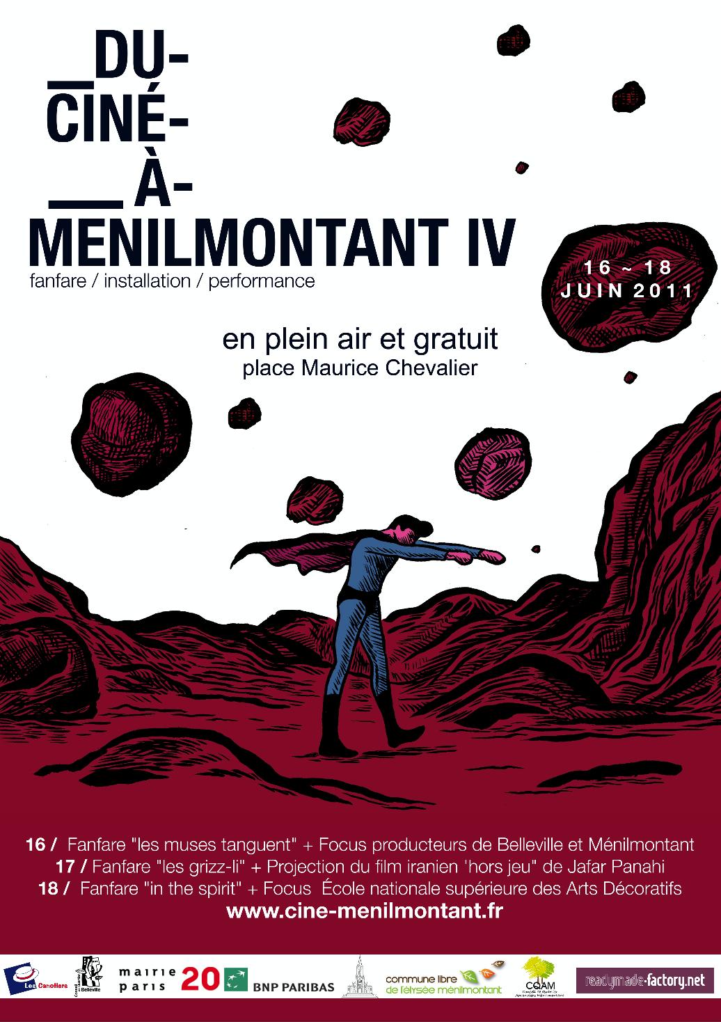 Affiche Ciné Ménilmontant 2011